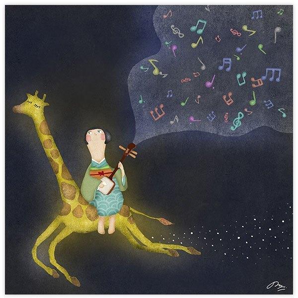 光るキリン Shiny Giraffe