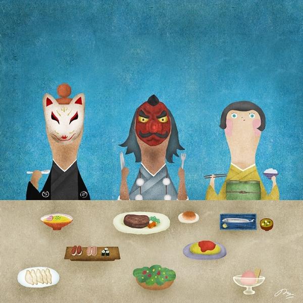 食べる食べる食べる Eat eat eat