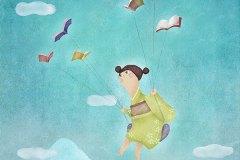 心は天を飛び回る Fly freely