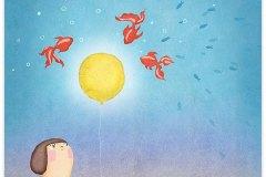月と魚 Moon and fishes