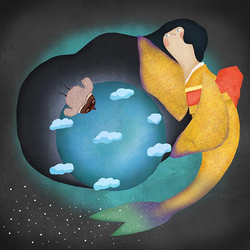 地球を守る人魚の詩画